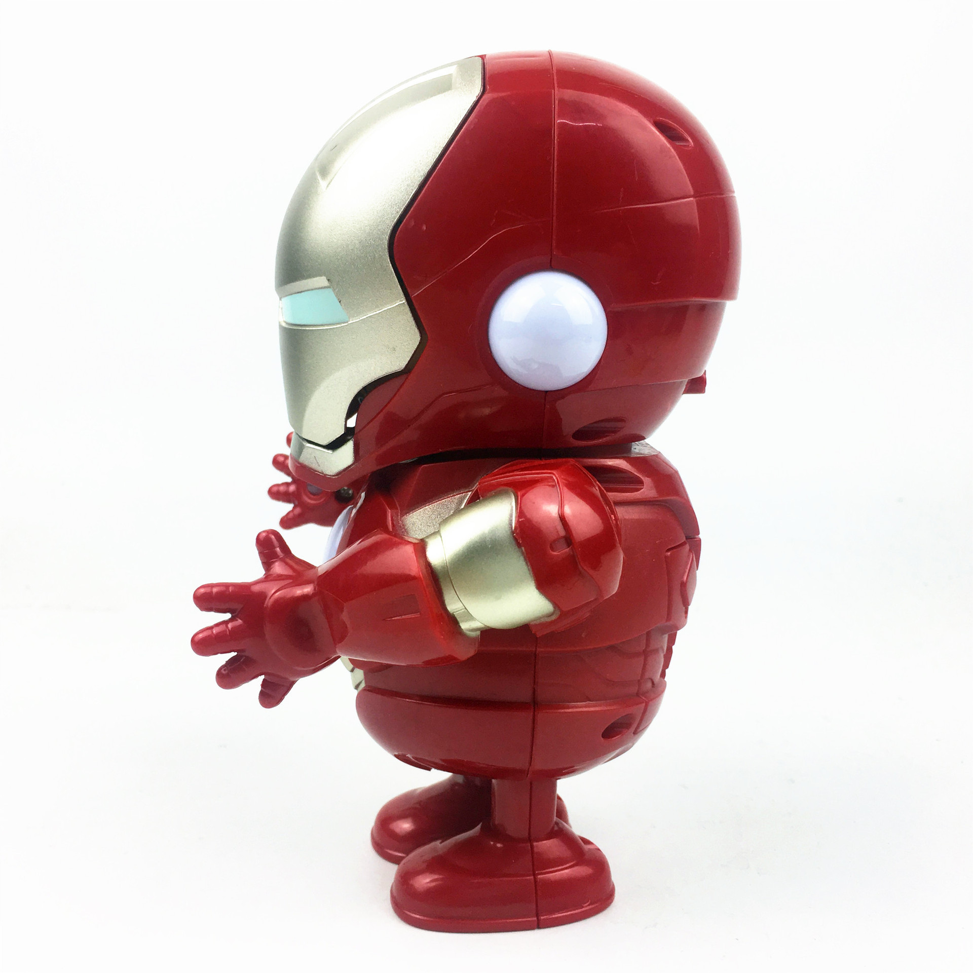 Avengers 4-Iron Man Dancing Robot Cute With Four Music Light Anime Peripheral Toy