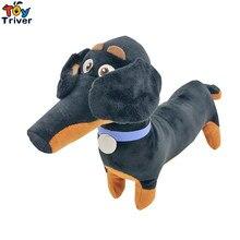 30cm de pelúcia preto salsicha amigo cão brinquedo recheado dos desenhos animados dachshund filhote de cachorro do bebê crianças aniversário festa presente casa loja decoração triver