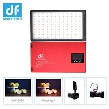 DF YY120 светодиодный 10 Вт двухцветная диммируемая ультратонкая панель света для vlogging видео DSLR YouTube фотостудии