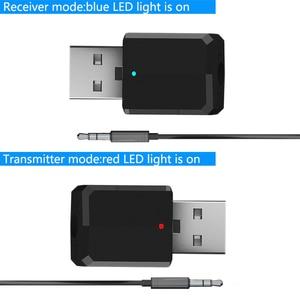 Image 3 - 5.0 Bluetooth משדר מקלט מיני 3.5mm AUX סטריאו אלחוטי Bluetooth מתאם לרכב אודיו Bluetooth משדר עבור טלוויזיה