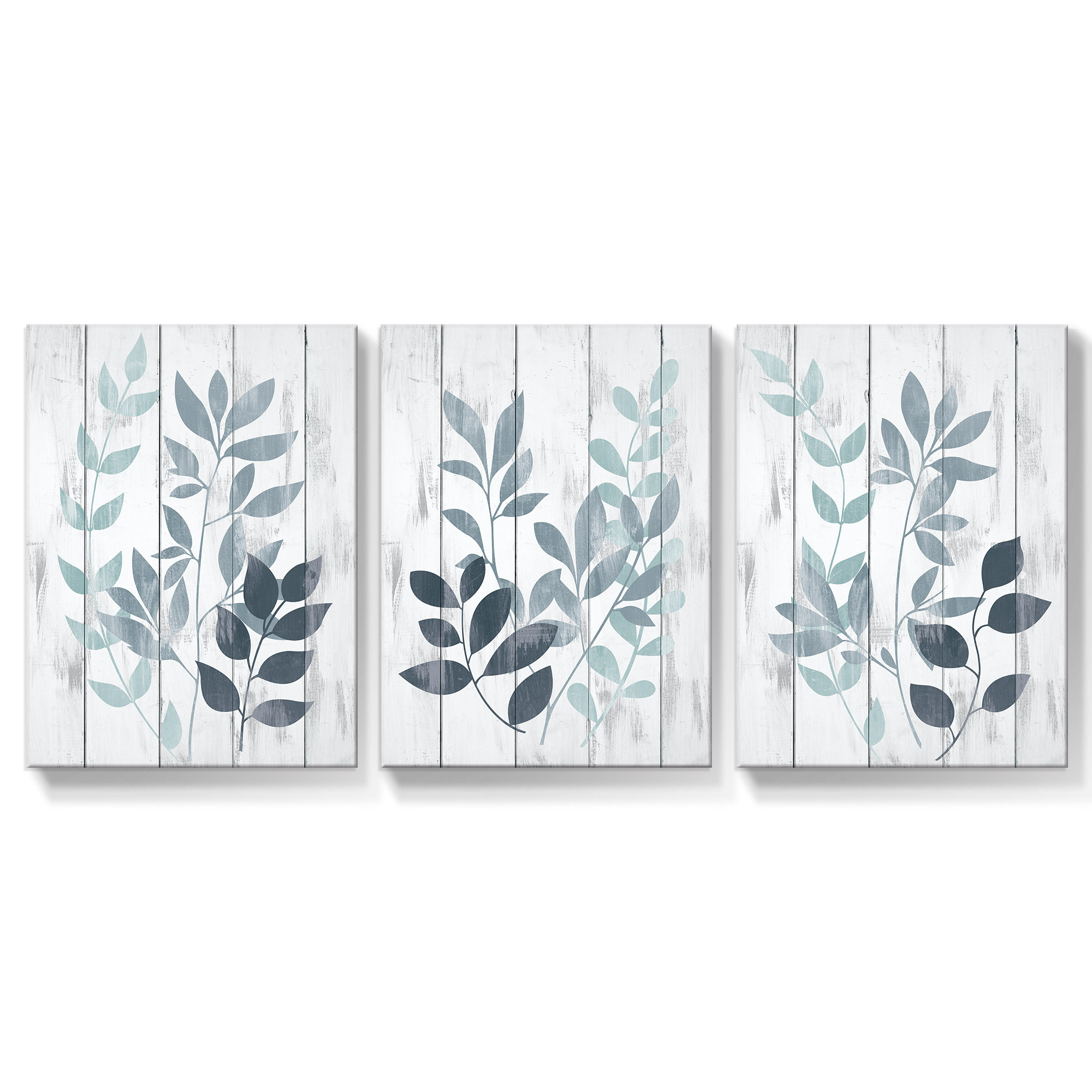Leaf Wall Art Canvas Painting Farmhouse Pictures Botanical Posters For Bedroom Blue Grey Bathroom Prints Nordic Home Decor Painting Calligraphy Aliexpress