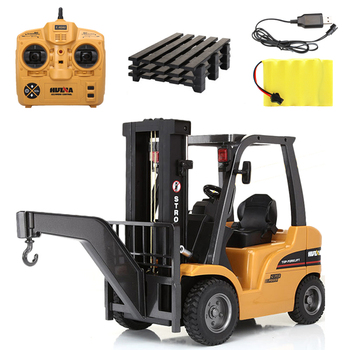 1/10 scale 8 channel rc metal car Huina 1577 remote control forklift construction model