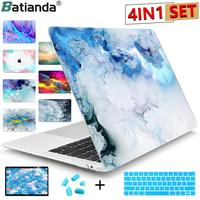Batianda Laptop Hard Case Cover with Keyboard Cover For MacBook Air Pro Retina 11 12 13 15 16 2016 2017 2018 2019 2020 Touch Bar