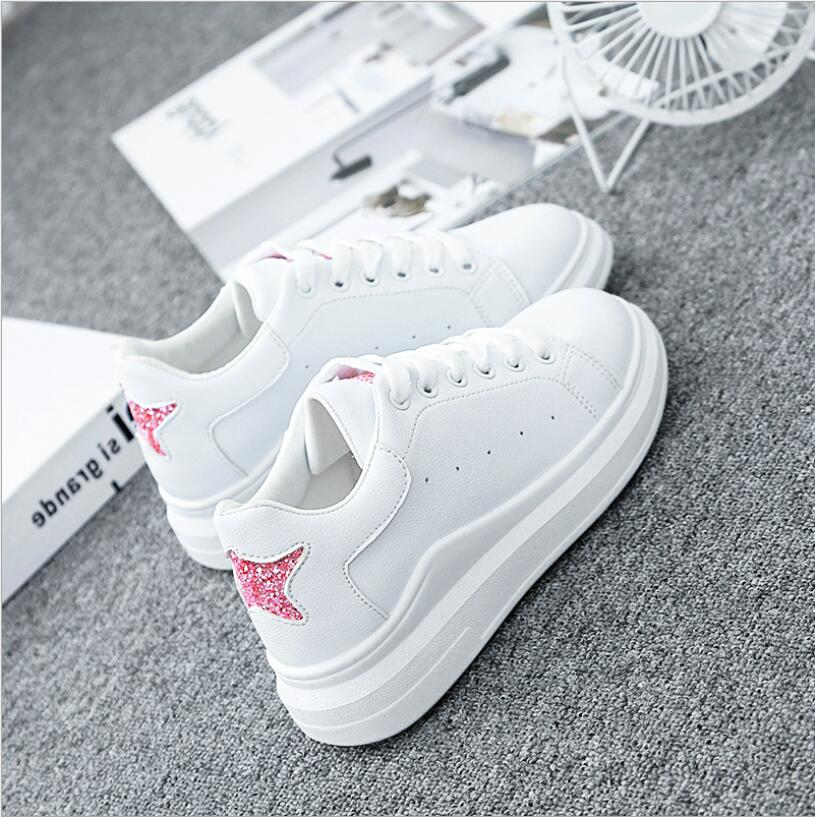Sequin Sneakers Trendy Shoes Transparent Sole Platform Chunky Sneakers Chaussures Trampki Damskie