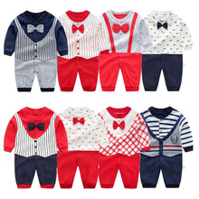 2020 autumn New Gentleman Style Clothing Baby Rompers for Bo