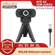 Webcam 1080p hd completo imilab câmera web embutido microfone rotatable usb plug web cam para computador pc mac computador portátil desktop