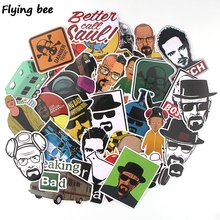Get more info on the Flyingbee 34 pcs Breaking bad Cool Funny PVC Scrapbooking for Luggage Laptop Phone Decals DIY Album Stickers X0391