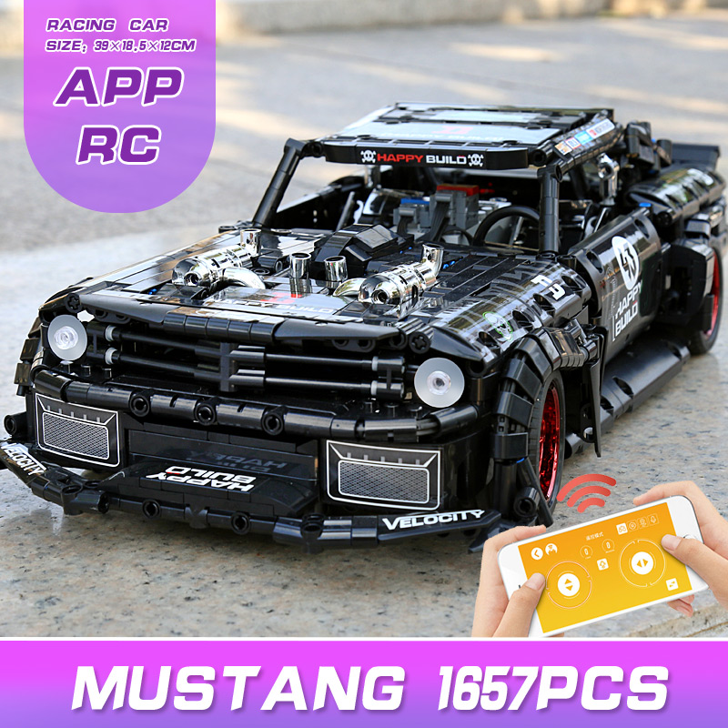 Yeshin APP Motor High-Tech Car Compatible With MOC-22970 Mustang Hoonicorn V2 Building Blocks