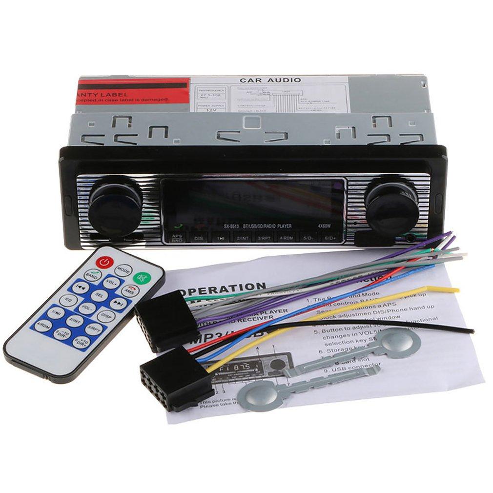 Sx-5513 Car Mp3 Wireless Car Mp3 Player U Disk Card Radio Replacement Car Cd Player Dvd Car Mp3 Player