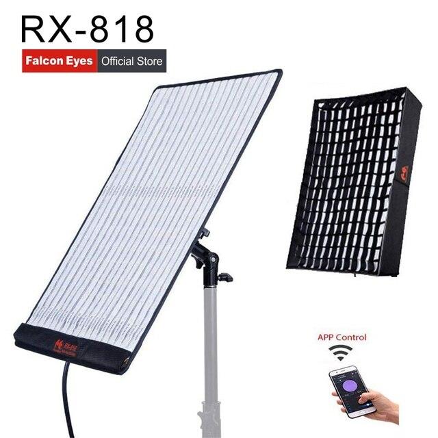 Falconeye 100 واط RGB LED الفيديو Fotografia ضوء دعم APP التحكم عن بعد المحمولة 21 وضع المشهد المستمر الإضاءة مصباح RX 818