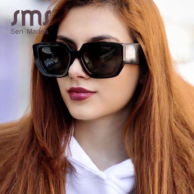 Vintage Schwarze Quadrat Sonnenbrille 2020 Frauen Retro Mode Sonnenbrillen Neue Luxus Marke Kleine Brillen oculos de sol feminino Schattierungen