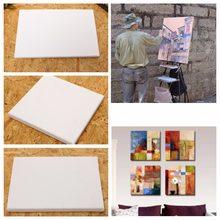 Quadro de madeira 100% algodão para pintura a óleo, quadro em lona artística profissional enquadrado, pintura em algodão pré-esticada