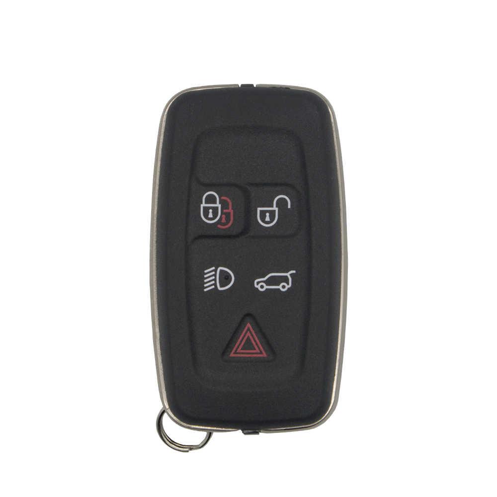 Okeytech para land rover discovery 4 esporte freelander chave do carro escudo inteligente remoto fob capa caso 5 botão keyless entrada accessorie