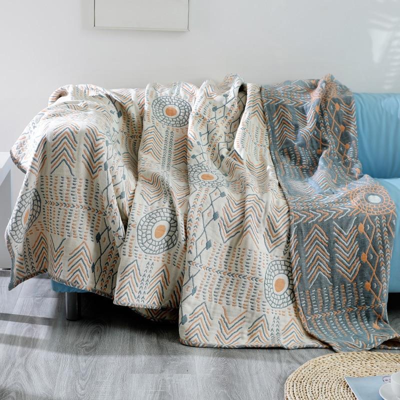 Летнее одеяло Junwell, 100% хлопок, муслин, кровать, диван, для путешествий, дышащее, шикарное, бохо, большой мягкий пледы, одеяло|Одеяла|   | АлиЭкспресс