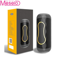 Meselo Luxury Electric Male Masturbator For Man Vibrating Pussy Double Hole Realistic Vagina Anal Penis Training Sex Toy For Men