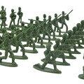 100 шт., военный игровой набор, пластиковые игрушки для солдат, мужские фигурки 3,8 см, последняя военная модель, интерактивные обучающие игруш...