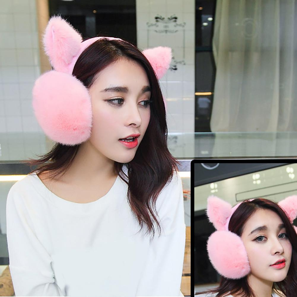 Women Girls Cute Ear Cover Plush Soft Winter Warm Folding Earmuffs Earwarmers Cute Headphones For Girls флисовые наушники