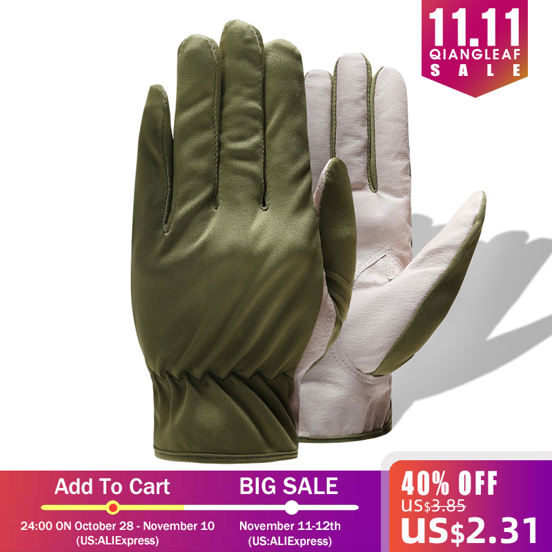 QIANGLEAF Brand Hot Sale Protection Leather Gloves For Working Glove Free Shipping Ultrathin Safety Work Mitten Wholesale 620