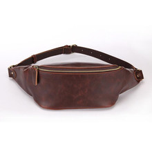 waist bag men Korean fashion trends coffee color sling for students