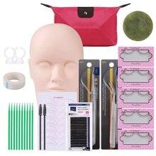 Professional 12PCS/Set Makeup Tool Kit Training Head Model F