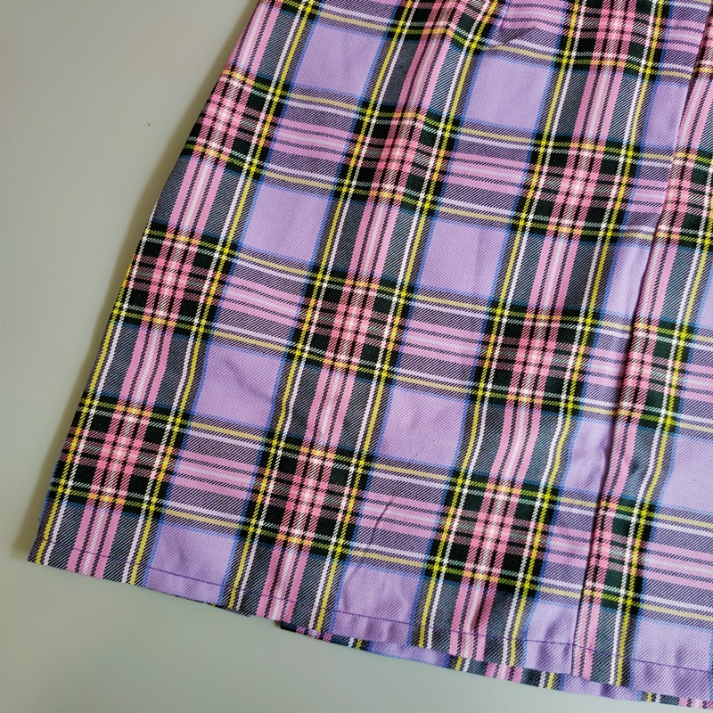 H12102938634d4fb6a85710449b687f0e9 - Korean Colored Plaid Skirt Women Student Chic Short Skirts Fashion Sexy Mini Skirts Spring Summer Female Skirts