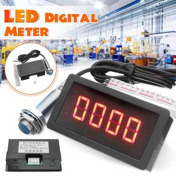 4 Digital Red LED Tachometer RPM Speed Meter Proximity Switch Sensor NPN 3 Wires Normally Open - discount item  34% OFF Measurement & Analysis Instruments
