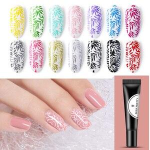 BORN PRETTY 8ml Nail Stamping Gel Polish White Black Glitter Soak Off Gel Nail Stamp Polish for Manicuring Nail Art Stamp Design(China)