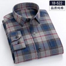 Camisa gruesa de manga larga para hombre, Camisa de algodón a cuadros con estampado de Fannel, de talla grande 5XL, 6XL, 7XL, 8XL, 100%, moda de otoño/invierno, 120kg, 130kg