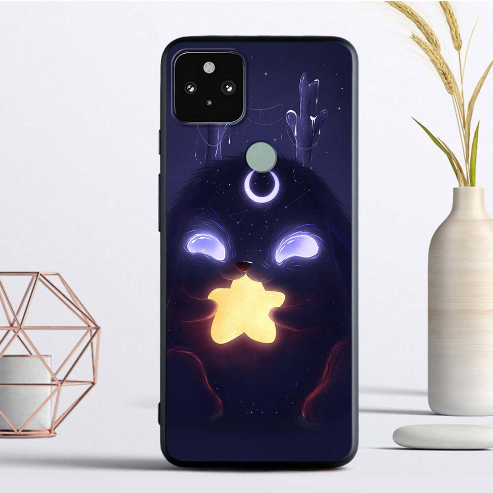 Alien Little Monster Silicone Case For Google Pixel 4A 4G 4 XL Funda Pixel 5 Soft Smart Phone Coque Luxury Soft TPU Back Cover