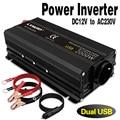 DC12V к переменному току 230V 500W 1200W 1500W 2000 Вт пиковый ЕС розетка USB Инвертор переменного тока для адаптера переменного автомобиля повышающий пре...