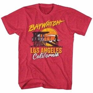 Baywatch Los Angeles California lisanslı yetişkin T Shirt