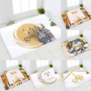 Eid mata podłogowa Ramadan Kareem latarnia szczęśliwy Eid Mubarak islamska muzułmanin Party Deco Ramadan Kareem Eid AL Adha Party Decor dla domu tanie i dobre opinie Gooparty CN (pochodzenie) Id al-Fitr 40x60cm
