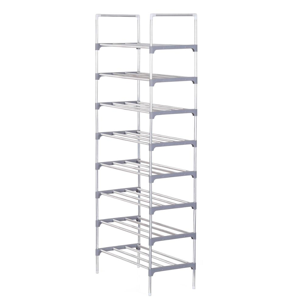 9-Layer Simple Shoe Rack Reinforced Metal Frame Shoes Stand Holder Hallway Space-saving Shoes Storage Organizer Tall Shoe Shelf