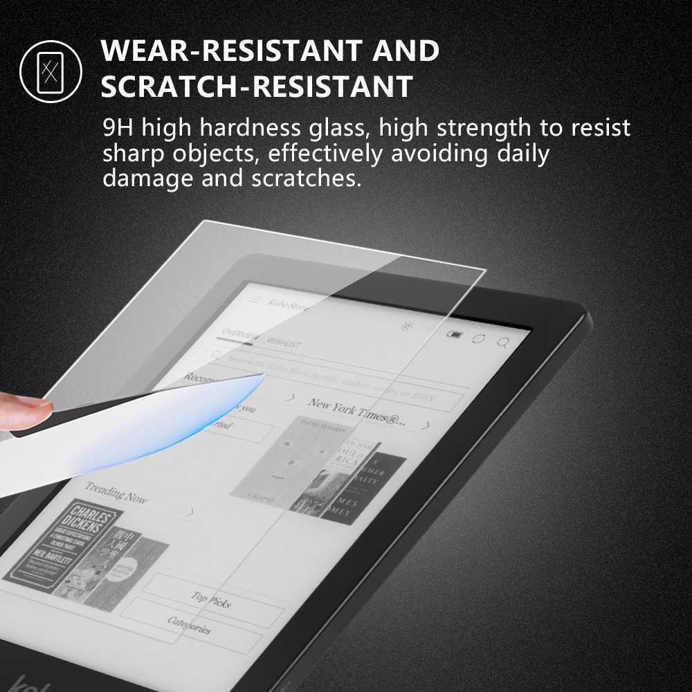 """Protector de pantalla de vidrio templado para Kobo clara HD 2018 6 """"e-lector de pantalla a prueba de arañazos cubierta proctiva para kobo clara HD"""