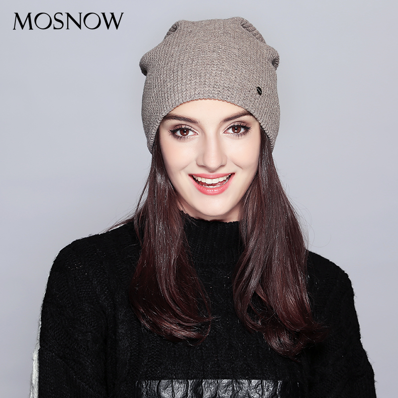 Warm Beanie 2019 Fashion Autumn Hats For Women Winter Brand New Lattice Cotton Knitted Hat Female Skullies Beanies Lady Bonnet