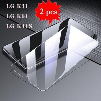 Перейти на Алиэкспресс и купить Закалённое стекло для телефона LG K61 K31 K41S, защита от царапин, ЖК-пленка, стекло для LGK31 LGK61 LGK41S, Премиум покрытие, стекло