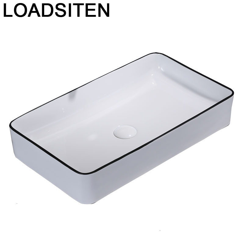 Lavagem Da Appoggio Black Wastafel Umywalka Nablatowa Sobre Encimera Wasbak Bathroom Vanity Lavabo Sink Cuba Banheiro Wash Basin