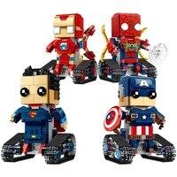 Remote Control Building Block Robot Educational Bricks Toys Figures Iron Man Spider man Superman Captain Super Heros