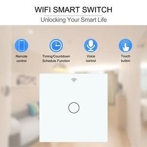 Image 3 - Smart Touch Switch  Wifi Light Switch  EU 1 2 3 Gang  RF Tuya App Voice Wireless Remote Control Works with Alexa Google Home