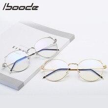IBOODE, женские ретро очки для чтения с кошачьими ушками, металлическая оправа, круглый светильник, плоское зеркало, Женская оптическая+ 1,0+ 1,5+ 2,0+ 2,5+ 3,0+ 3,5+ 4,0