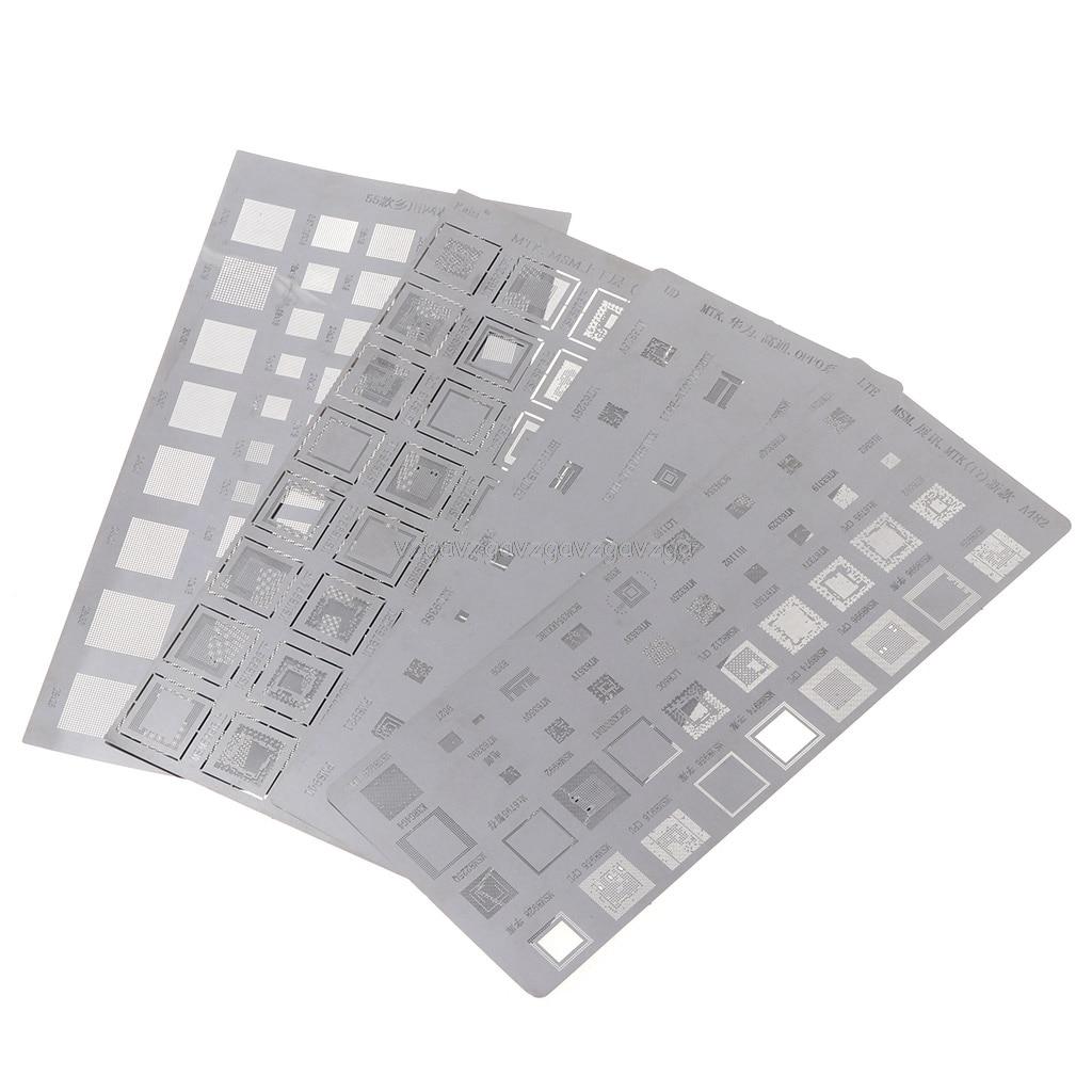 4PCS Universal BGA Stencil For MTK MSM CPU RAM PM Power IC Reball Pin BGA Direct Heat Template O30 19 Dropship