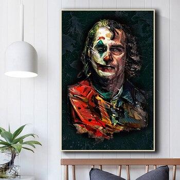 Estrella de la película el Joker, impresos lienzos de pintura al óleo, broma, arte cómico, pintura, cuadros de pared para la decoración del hogar de la sala de estar