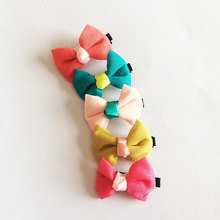 1 Pcs/lot High Quality Cute Solid Grosgrain Kids Girls Hair Ribbon Bows Alligator Clips Chiffon Hairpin Soft Accessories