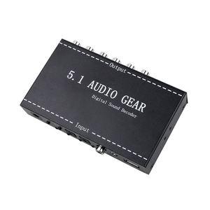 Image 1 - 5.1 معدات الصوت 2 في 1 5.1 قناة AC3/DTS 3.5 مللي متر معدات الصوت الرقمية فك ترميز الصوت المحيطي ستيريو (L/R) إشارات فك HD لاعب