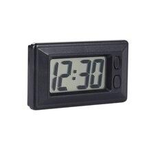 1 шт., автомобильные часы, автомобильные часы, электронные часы, Приборная панель автомобиля, ЖК-экран, большие цифровые часы, самоклеящийся кронштейн, автомобильные аксессуары