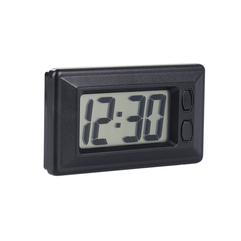 1pc Car Clock Car Clock Electronic Watch Car Dashboard LCD Screen Large Digital Clock Time Self-Adhesive Bracket Car Accessories