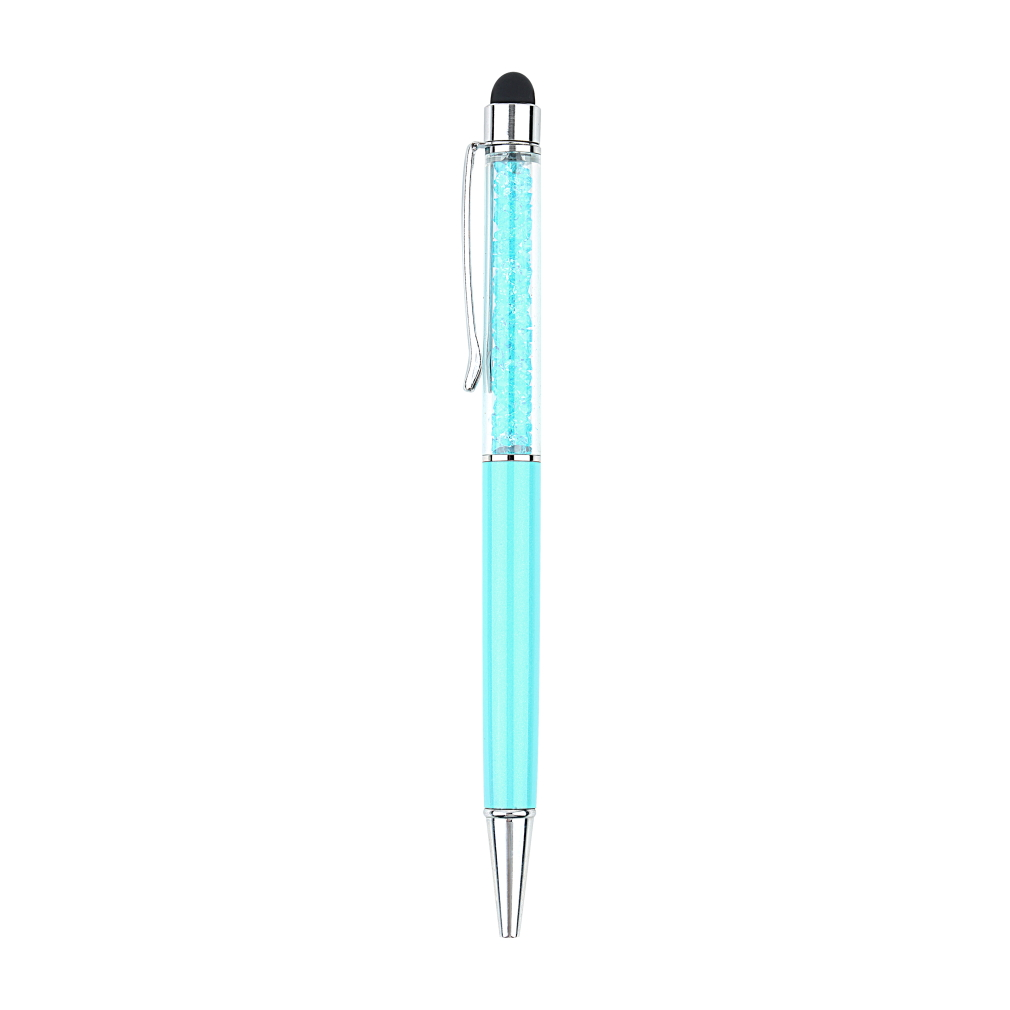 New Stylus Pen Crystal 2 In1 Touch Screen Stylus Ballpoint Pen For IPhone IPad Samsung Galaxy Tablet PC Phone