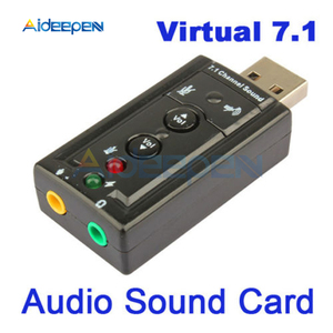 Mini USB 2.0 12Mbps External 7.1 Channel Audio Sound Card Adapter For PC Computer Windows 2000/XP/Server/2003/Vista/Linux/Mac