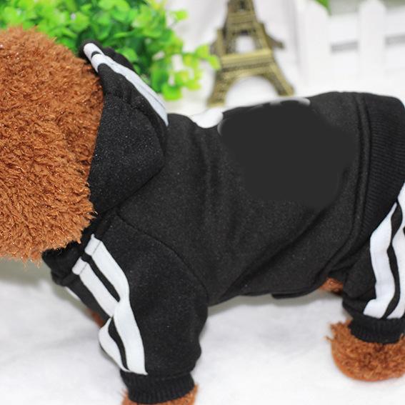 PUOUPUOU Winter Warm Pet Dog Clothes Hoodies Sweatshirt for Small Medium Dogs French Bulldog Sweet Puppy Dog Clothing XS-XXL 6
