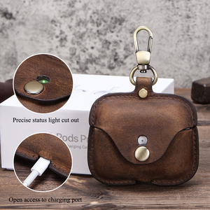 Image 2 - Retro Genuine Leather Case for AirPods Pro Shockproof Cover For AirPods 3 Charging Box case for Airpod 2020 Pro Dustproof Case